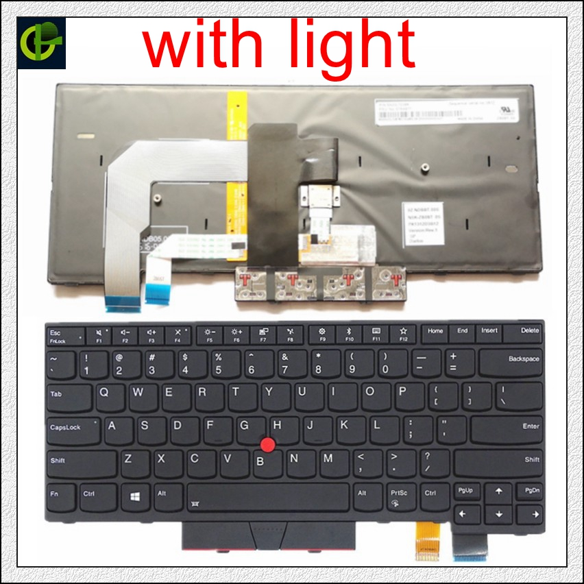 Backlit English Keyboard For Lenovo ThinkPad A475 T470 T480 A485 FRU 01AX364 01AX405 01AX446 PN SN20L72726 PK1312D1A00   US