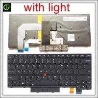 Backlit Teclado Inglês para Lenovo ThinkPad A475 T470 T480 A485 FRU 01AX364 01AX405 01AX446 PN SN20L72726 PK1312D1A00 EUA|Teclado de substituição|Computador e Escritório -