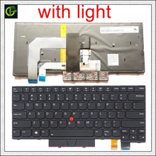 """תאורה אחורית אנגלית מקלדת עבור Lenovo ThinkPad A475 T470 T480 A485 FRU 01AX364 01AX405 01AX446 PN SN20L72726 PK1312D1A00 ארה""""ב"""