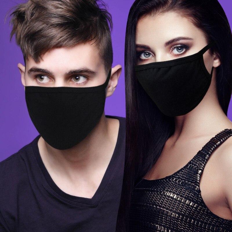 1 шт. хлопковая маска для губ унисекс зимняя теплая утолщенная Половина лица многоразовые черные маски для рта Анти-пыль Антибактериальный