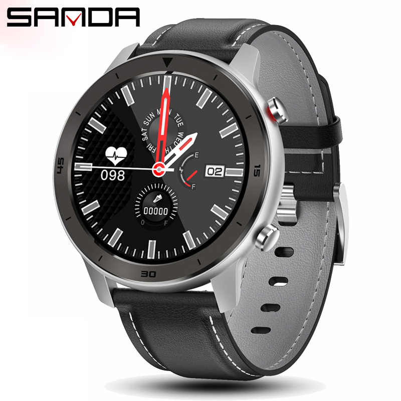 Sanda Smart Horloge Mannen Armband Fitness Activiteit Tracker Wearable Apparaten Smartwatch Hartslagmeter Full Touch Sport Horloge