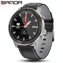 SANDA akıllı saat erkekler bilezik fitnes aktivite takip cihazı giyilebilir cihazlar Smartwatch nabız monitörü tam dokunmatik spor izle