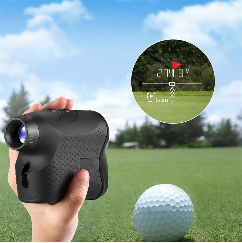 6X 600M Laser Monocular Golf Hunting Range Finder Speed Tester Height Speed Meter Distance Meter Anti-fog for Hunting and Golf