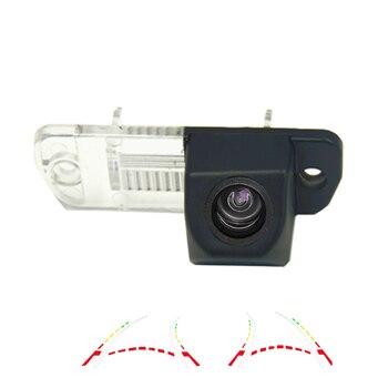 180deg HD car rear view reverse camera for Mercedes Benz C/E/CLS/W203/W211/W209/B200 A160 W219 GLS 300 parking Dynamic Tracks