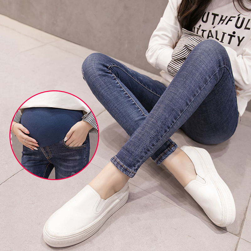 Maternity Stretch Jeans Maternity Clothes Pregnant Women Pants Skinny Pregnancy Clothing Spring Jeans Maternity Pants Gravidas