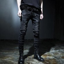 Top Brand Fashion Heren Slim Fit Denim Jeans Jongens Slim Biker Broek Skinny Straight Runway Elastische Jeans Broek Blauw Maat 28--42(China)