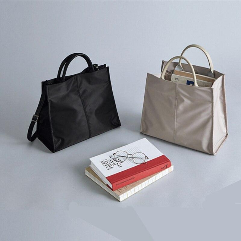 2020 Simple Nylon Business Briefcase Female Ol Lightweight Waterproof Handbag Student Shoulder Slung Briefcase