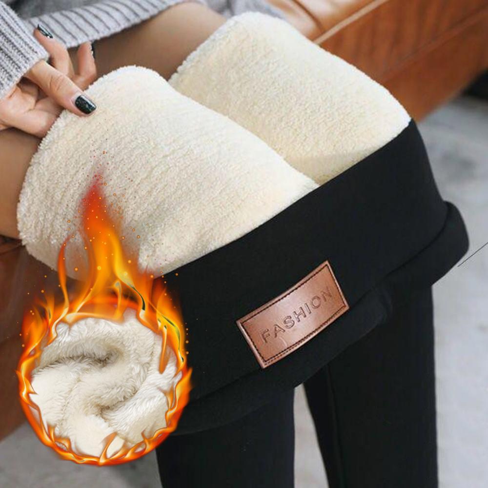 DANALA Women's Warm Thermal Leggings Thick Slim Fit High Elasticity Stretchy Velvet Fleece Lined  Hot Autumn Winter Spring