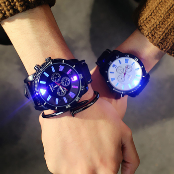 2020 new classic super luminous luminous oversized dial trends men and women couples watch quartz simple practical fashion watch new and innovative blue gold magnetic metal parallel time and space watch men s fashionable quartz watch simple men s watch