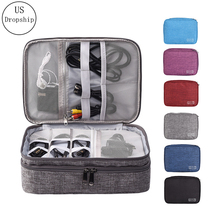 New Travel Cable Bag Portable Digital USB Gadget Organizer Charger Wires Cosmetic Zipper kit Case Accessories Supplies