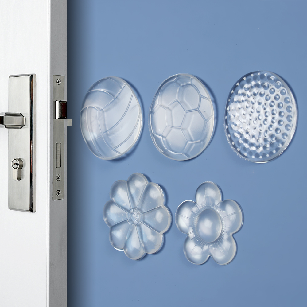 Bumpers Door-Stoppers Wall-Protectors Shock-Absorber Transparent Safety Security Mute