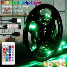 5V USB TV LED Light RGB Strip Flexible Ribbon Lamp Tape Waterproof Ambilight Decoration 0.5m 1m 2m 3m 4m 5m