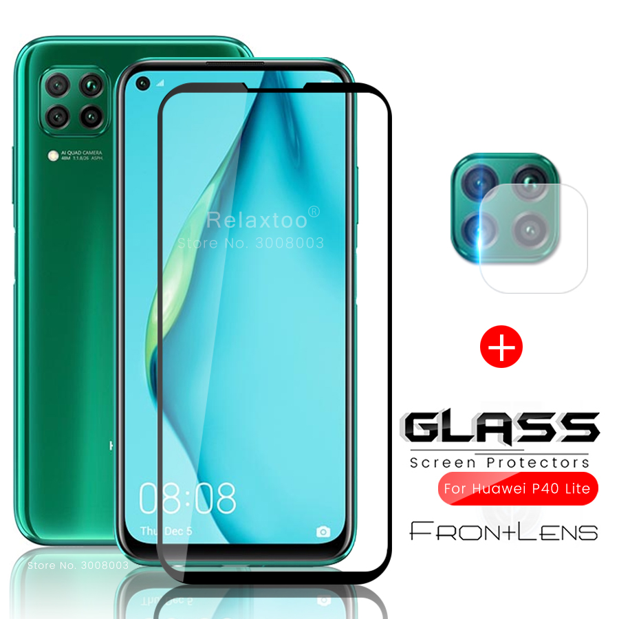 2-in-1 Hauwei P 40 Lite Glass Camera Protector For Huawei P40 Lite Light 40lite 40light Glass Protective Hauwei P40lite P40light