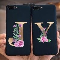 Custodia per lettere di fiori di lusso per Apple iPhone 5 5s SE 6 7 8 Plus X XR XS Max Cover posteriore custodie per telefoni in TPU morbido per iPhone X XS 5 6 7