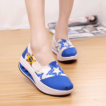 Height Increasing Women Platform Shoes High Quality Canvas