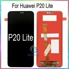 Do wyświetlacza LCD Huawei P20 lite Nova 3e z dotykiem z montażem ramy wymiana części naprawczych