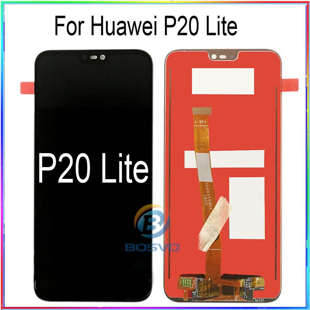 For Huawei P20 Lite LCD Screen Display Nova 3e With Touch With Frame Assembly Replacement Repair Parts