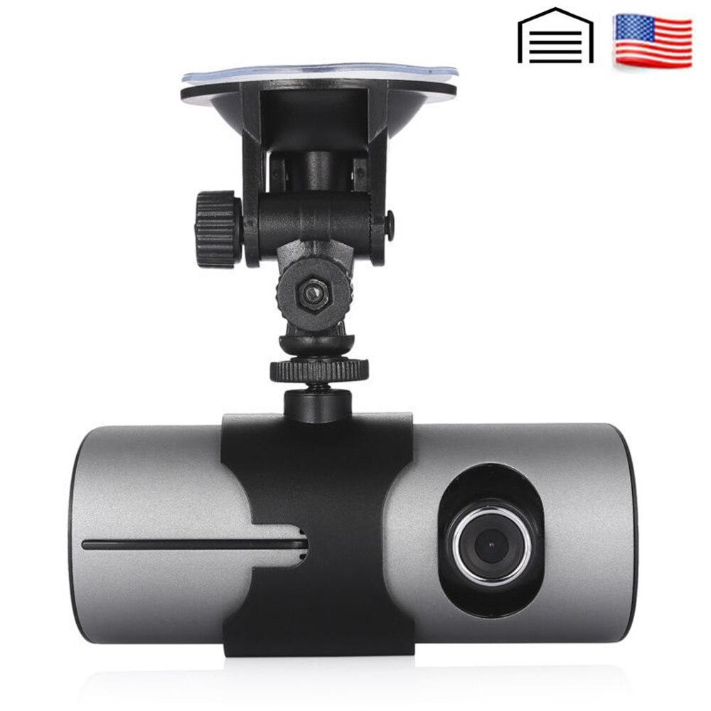 AKASO HD voiture DVR double lentille GPS caméra Dash Cam vue arrière enregistreur vidéo Dash Cam Auto registrateur g-sensor voiture DVRs X3000 R300