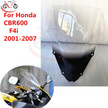 For Honda Windshield 2001   2007 CBR600 F4i CBR 600 F 4i Wind Screen Deflectors CBR600F4i Windscreen Sun Visor Wind Deflector