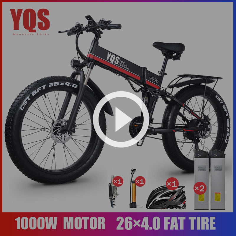 YQS electric bicycle 1000W 80KM 4.0 fat tire New Neve Snow Mountain bike Ebike Electric Bike ebike 48 V electric bicycle