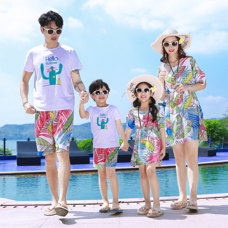 Summer Shorts 2020.Us 27 8 Family Look 2020 Summer Mother Daughter Beach Dresses Dad Son Cotton Plus Size T Shirts Shorts Holiday Family Matching Outfits On Aliexpress