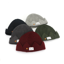 Skullies  Beanies New Mens Winter Fall Knit Hat Couple Beanie Cap Warm Headgear Male and Female Crown Knitted