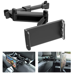 Image 5 - Telescopic Car Rear Pillow Phone Holder Tablet Car Stand Seat Rear Headrest Mounting Bracket for Phone Tablet 4 11 Inch