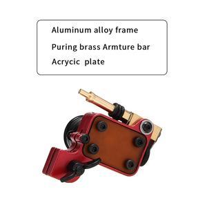 Image 2 - רוטרי קעקוע מכונת יפני מנוע אלומיניום סגסוגת מסגרת (אדום)