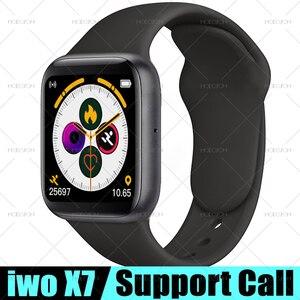 Смарт-часы MODOSON iwo X7 Series 5, Bluetooth, пульсометр, фитнес-трекер, умные часы для Samsung Huawei Xiaomi Apple iphone