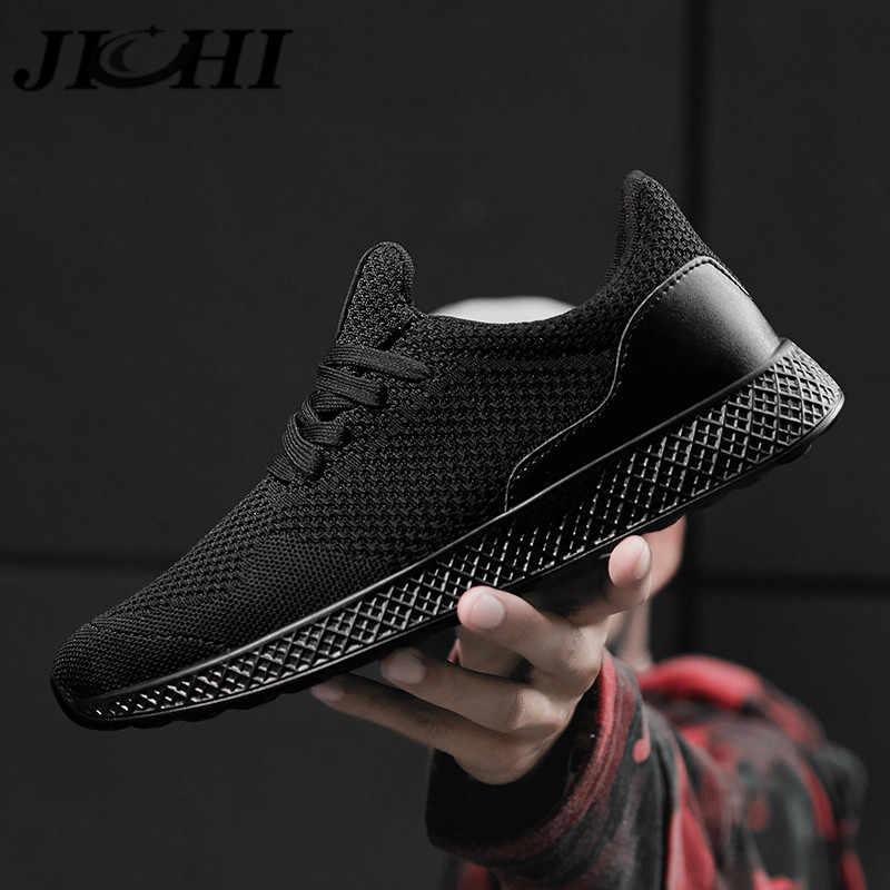 JICHI 2020 Tennis Schuhe für Männer Design Atmungsaktivem Mesh Casual Männer Schuhe Leichte Lace-up Turnschuhe für Männer Zapatillas hombre