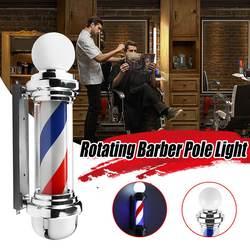 Barber Pole Led Licht Haar Salon licht Rotierenden licht lampe mit Birne Marker lampe LED Downlights 68x19x24cm 220V EU/110V Us-stecker