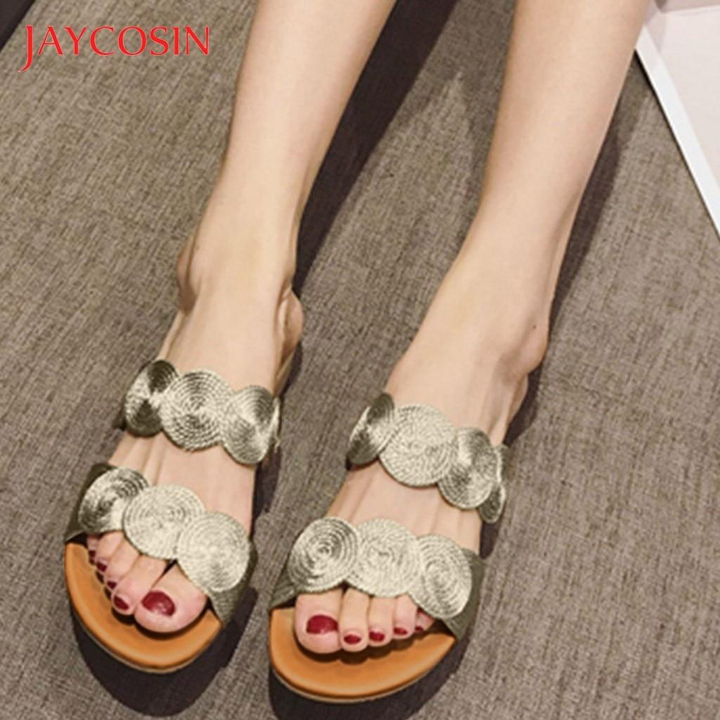 JAYCOSIN Summer Women Slippers Platform Beach Sandals Coil Flip Flop Shoes Woman Wedges Heels Slip On Comfort Shoes slides Drop 1
