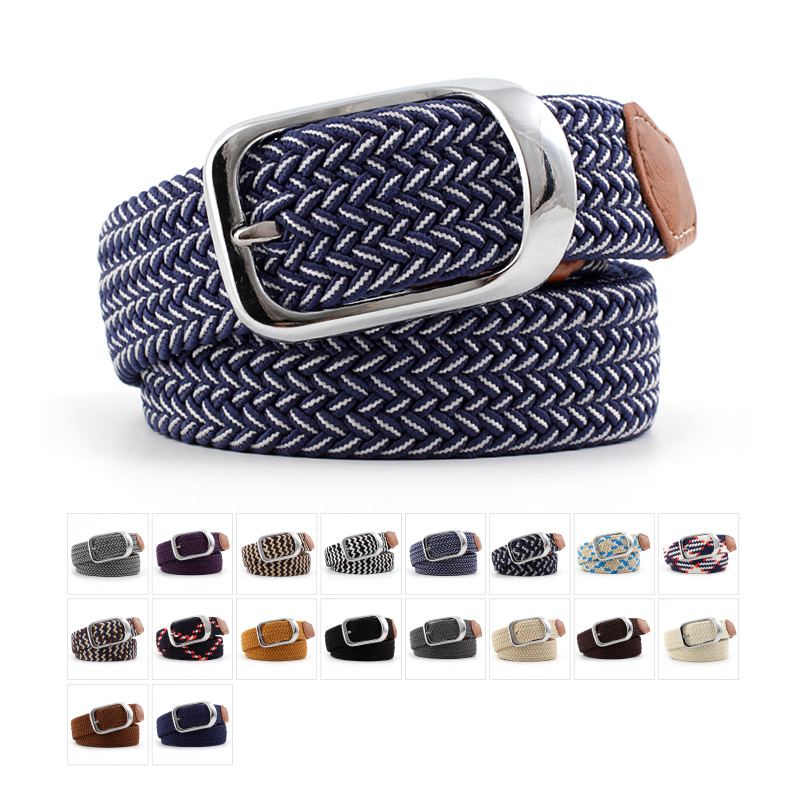 Fashion Korean Casual Stretch Woven Belt For Women Unisex Knitted Clothes Aaccessories Belts Thin Adjustable Belts Male