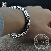 Brazaletes de cadena de plata tailandesa S925 para hombre y mujer, brazaletes de colgantes de plata de ley 925, joyería de Buda, pulsera Vintage