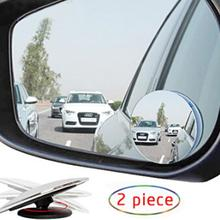 2pcs Blind Spot Removal Mirror 360 Degree Framless Wide Angle Round Convex Mirror Side Blind spot Rear view Parking Mirror vodool 2pcs frameless car blind spot mirror 360 degree adjustable wide angle convex rear view mirror car parking rearview mirror