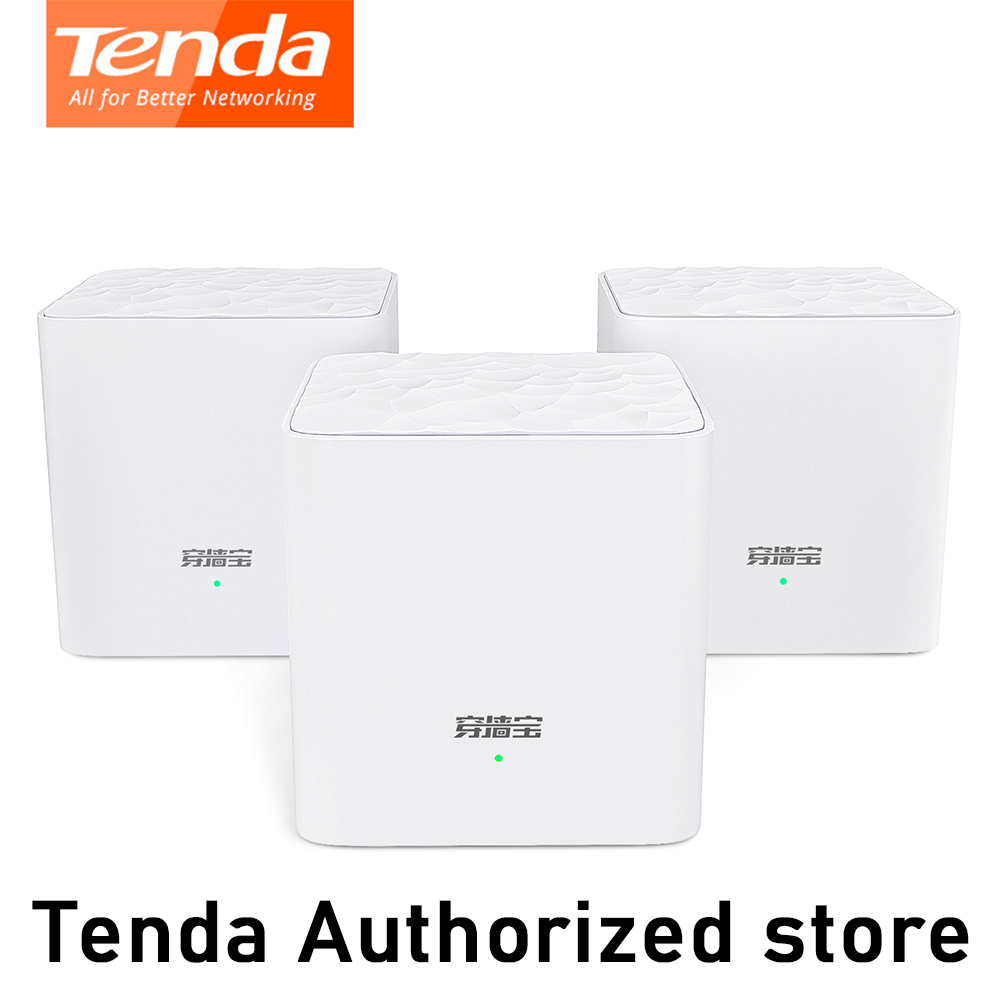 <font><b>Tenda</b></font> MW3 Nova Mesh Wireless Wifi Router AC1200 Dual-Band for Whole Home Wifi Coverage Mesh WiFi System Wireless Bridge Repeater image