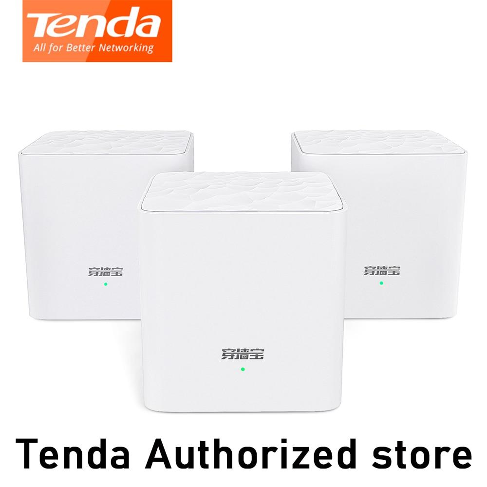 Tenda MW3 Nova Mesh Wireless Wifi Router AC1200 Dual-Band For Whole Home Wifi Coverage Mesh WiFi System Wireless Bridge Repeater