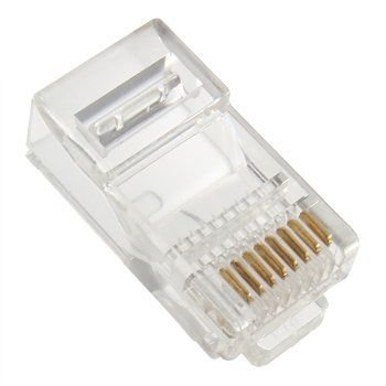 1 PCS RJ45 CAT5 Crystal Modular Plug LAN Network Connector 8 Pins Network Cable Plug for UTP Cat5 Cat5e Drop Shipping Piece . image