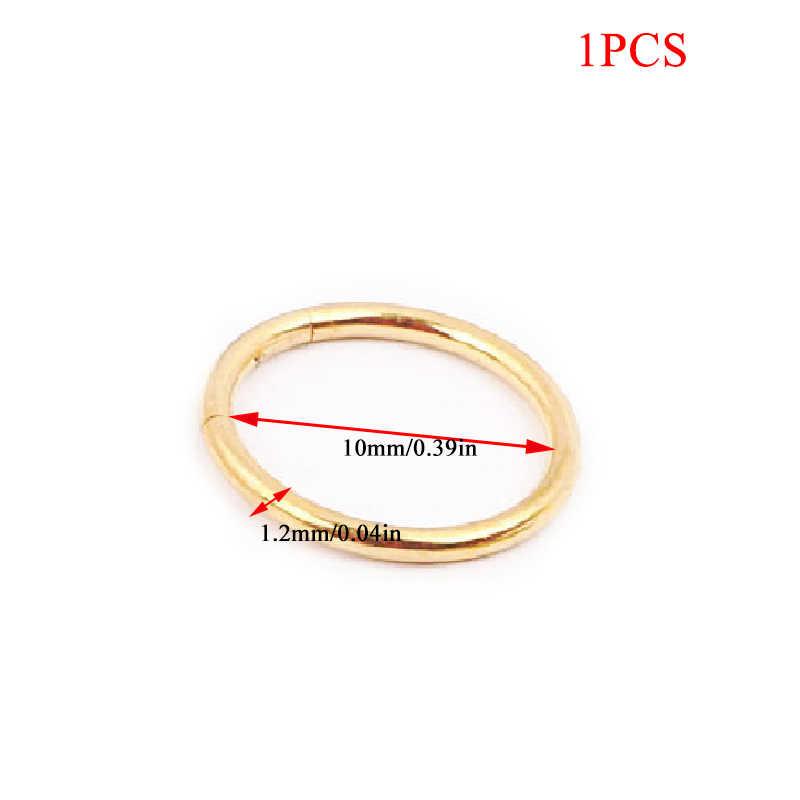 1PC נירוסטה פשוט Helix Tragus שפתיים האף טבעת עגילי חישוק לנשים גברים פאנק שפתיים נזם באף פירסינג תכשיטי זהב שחור