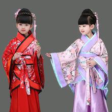 Традиционные китайские танцевальные костюмы для девочек с изображением