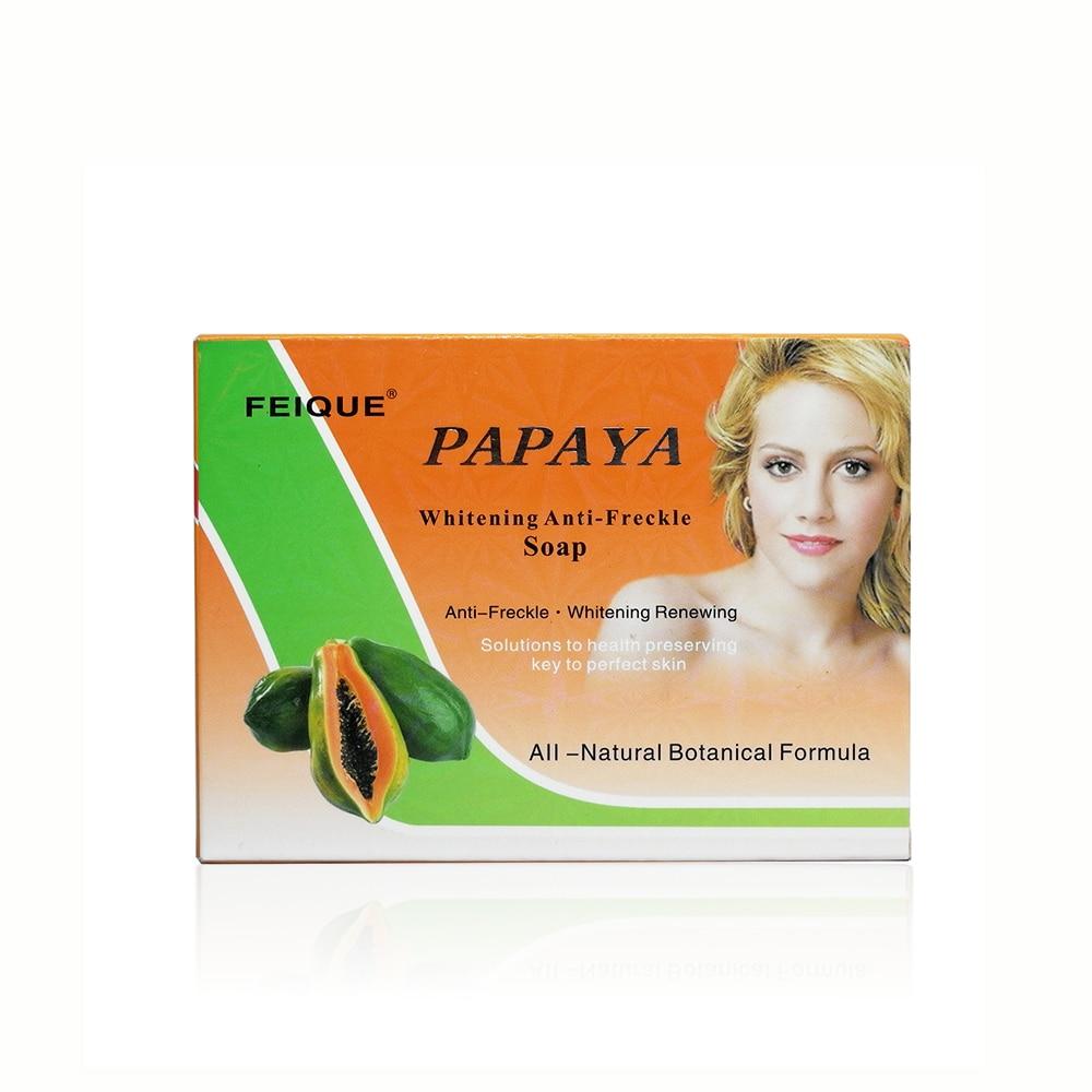 Feique all-natural botanical formula papaya whitening anti-freckle renewing soap 130g per pcs