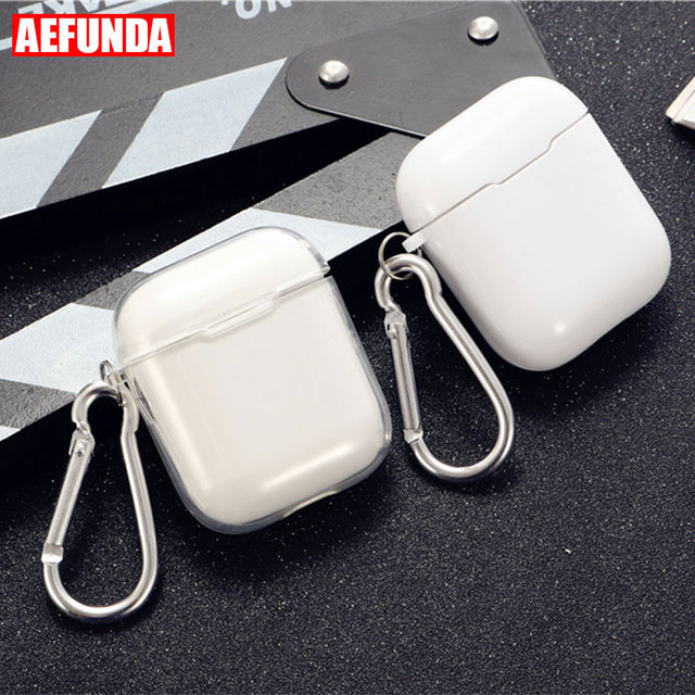 Transparent Soft Silicone Case For Airpods Wireless Headphone TPU For Apple Air Pods 2 Earphone Box Anti Shock Protective Cover