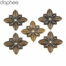 50 Uds mueble de bronce antiguo tapicería uñas Tachas estuche de regalo para joyería Puerta de caja sofá tachuela decorativa pasador 30*27mm