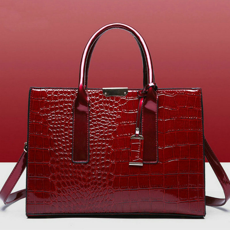 Female Handbag Composite-Bag Alligator Large-Capacity Luxury Brand Simple B44-22 title=