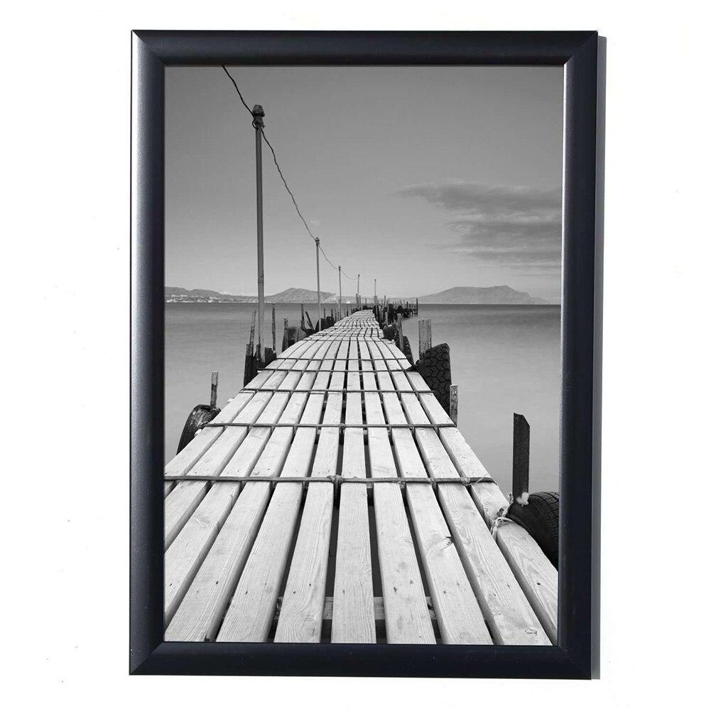 Black Simulation Wood Table Photo Frame Picture AFrame, Complete Frame With Glass, Hardboard Back, COLOR - BLACK