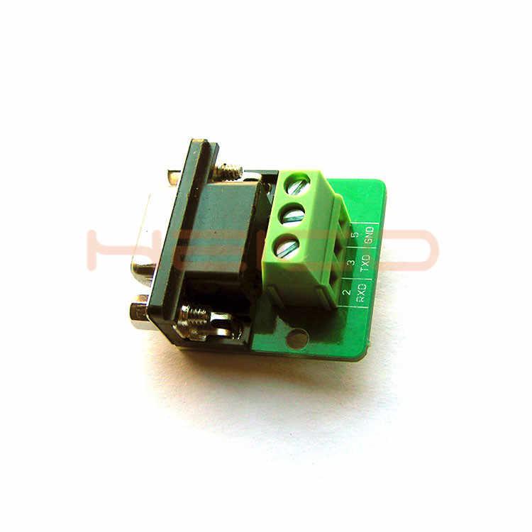 DB9 シリアル端子 RXD TXD GND シリアルポートコネクタ用のターミナルアダプタ RS232 RS485