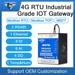 Image 3 - Ethernet Cellular IoT RTU Data Acquisition Monitoring System support Dual Sim card RS485 serial server Modbus Master/Slave S475