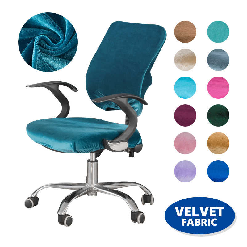 Set Of 2 Velvet Office Chair Covers Spandex Chair Slipcovers Case Chair Decoration Computer Chair Seat Covers Elastic Stretch Chair Cover Aliexpress