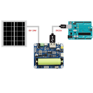 Image 3 - פנל סולארי אספקת חשמל לוח ניהול מודול ליתיום סוללה 6V 24V שמש טעינת מוסדר מטען MPPT USB כוח מתאם