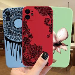 Сексуальный силиконовый чехол с цветочным кружевом и пионами для iPhone 12 11 Pro XS MAX XR 7 8 Plus, роскошный противоударный чехол для телефона ярких цв...